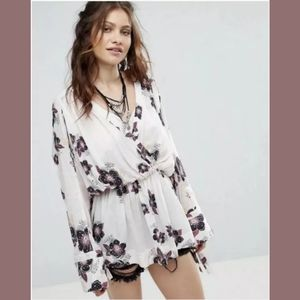 NWT Free People Tuscan Dream White Floral …